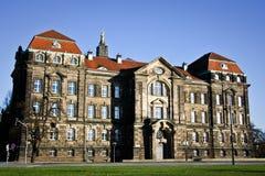 Cancillería sajona del estado en Dresden Foto de archivo