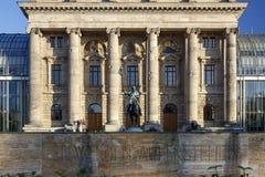Cancillería bávara Bayerische Staatskanzlei del estado en Munich, Foto de archivo