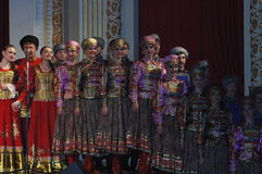 Canciones rusas étnicas Imagen de archivo libre de regalías