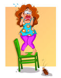 Cancrelat effrayant illustration stock