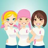 Cancro da mama da luta Fotografia de Stock Royalty Free