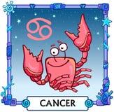 Cancro del segno dello zodiaco Fotografia Stock Libera da Diritti