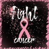 Cancro di lotta Citazione ispiratrice circa consapevolezza del cancro al seno Immagini Stock