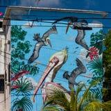 Cancun, Мексика; 09 14 2018 искусство урбанское Стоковое Фото