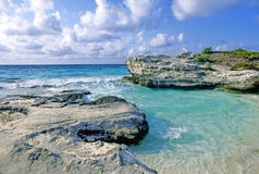 Cancun. At the mayan riviera the clear turquoise water of Cancun Stock Image