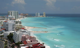 Cancun Aerial Beach View Royalty Free Stock Images