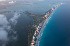Cancun aerial view panorama landscape Royalty Free Stock Photo