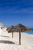 Cancun Beach. Beach in the seaside town of Cancun, Mexico Stock Photo