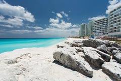 Cancun beach. Beautiful Cancun beach in Mexico Royalty Free Stock Image
