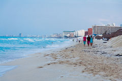 Cancun Beach Mexico Stock Image