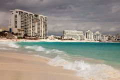 Cancun beach in Mexico Stock Photography