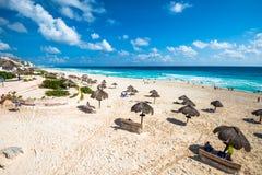 Cancun beach panorama, Mexico. Cancun beach panorama in Mexico Stock Photos