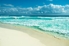 Cancun beach panorama, Mexico. Image of Cancun beach panorama, Mexico Stock Photo