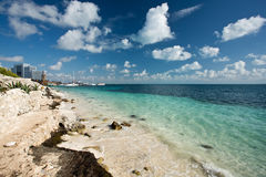 Cancun. Beautiful beach Cancun in Mexico Stock Photo