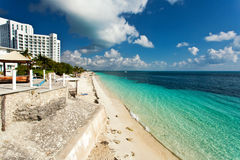 Cancun. Beautiful beach Cancun in Mexico Stock Images