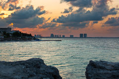 Cancun. Beautiful Cancun beach in Mexico Royalty Free Stock Images