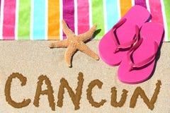 Cancun, fond de voyage de plage du Mexique Photographie stock libre de droits