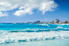 Cancun Forum beach Playa Gaviota Azul Stock Photo