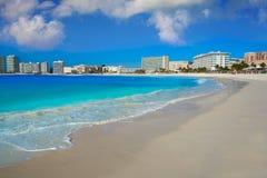 Cancun Forum beach Playa Gaviota Azul Stock Photos