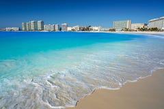 Cancun Forum beach Playa Gaviota Azul Stock Images