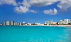 Cancun Forum beach Playa Gaviota Azul Royalty Free Stock Image