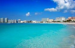 Cancun Forum beach Playa Gaviota Azul Stock Photography