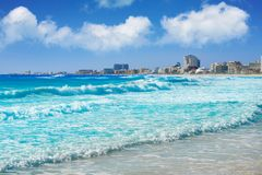 Cancun Forum beach Playa Gaviota Azul Stock Image