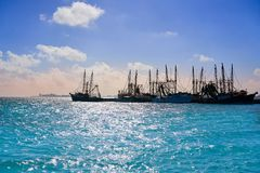 Cancun Hotel zone view in Puerto Juarez Stock Photography