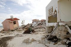 Cancun houses after hurricane storm. Cancun Caribbean houses after hurricane storm crash disaster Royalty Free Stock Photography