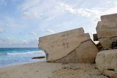Cancun houses after hurricane storm Royalty Free Stock Photo