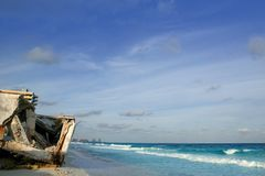 Cancun houses after hurricane storm Royalty Free Stock Images