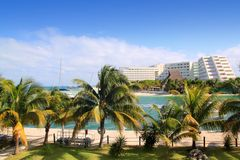 cancun karaibski laguny Mexico morze Obraz Stock
