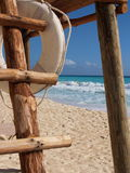 Cancun lifeguard stand. A vivid shot on a nice cancun day Stock Images