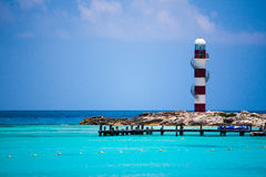 Cancun Lighthouse Royalty Free Stock Images