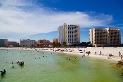 Cancun México com alga Foto de Stock Royalty Free