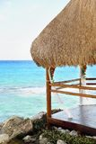 Cancun, Mayan Riviera, Mexico, Beach Hut Stock Images