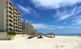 Cancun Mexican Beach Resort and hotel Royalty Free Stock Images