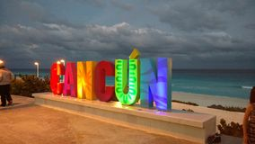 Cancun Mexico. Beach Cancun places Mexico summer spring Royalty Free Stock Photography