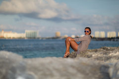 Cancun in Mexico. Beautiful Cancun beach in Mexico Royalty Free Stock Photo