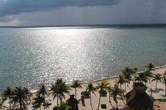 Cancun mexico. Great view of one side of cancun's ocean views from a cancun resort Stock Image