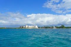 CANCUN MEXICO - JANUARI 10, 2018: Isla Mujeres är en ö i det karibiska havet, omkring 13 kilometer av Yucatanen Arkivbilder