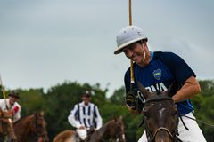 CANCUN, MEXICO - JULY 8, 2018: Elite polo players un purebred ho stock photography