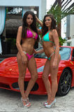 CANCUN, MEXICO - MAY 03: Models pose outside during semi-finals rehearsal IBMS 2014 Royalty Free Stock Photos