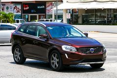 Volvo XC60. CANCUN, MEXICO - MAY 16, 2017: Motor car Volvo XC60 in the city street stock images