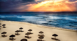 Cancun mexico. Cancun, Mexico in the morning with a sunrise Stock Photo