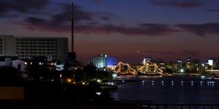 cancun mexico natt Royaltyfri Fotografi
