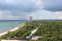 Cancun mexico. Nice ocean view of cancun mexico Royalty Free Stock Photography