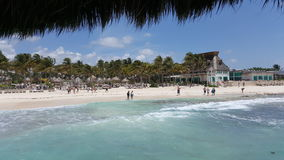 Cancun Mexico. Ocean Beach water sand Stock Photo