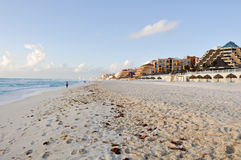 Cancun Mexico strand Arkivbilder