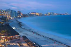 Cancun at night, Mexico Stock Images